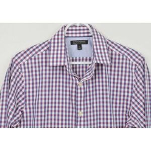 Banana Republic Small Slim Shirt Button Down Plaid